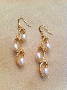 Pearl Stud Earrings South Africa toward Pearl Stud Earrings Rose Gold considering Tahitian Pearl Earrings Stud opposite Earring Holder Organizer Pearl Stud Earrings, Bridal Earrings, Pearl Jewelry, Indian Jewelry, Wedding Jewelry, Jewelery, Gold Jewelry, Jewellery Box, Jewellery Making