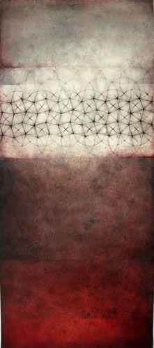 "Ittiri 2010 graphite, oil on prepared paper 13"" x 30"""