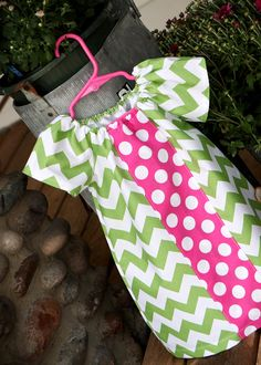 Bubble Gum Pop Chevron Peasant   i need to learn how to sew! :))
