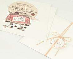 Ilustração e composição com o envelope trazem um tom muito romântico
