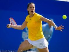 """Andrea Petkovic's """"I'm about to swallow the ball look"""" :D"""
