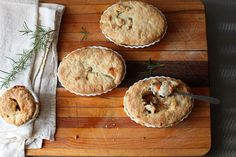 chicken pot pies. oh heck ya im making this for dinner tonight.