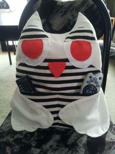 hand sewn owl remote holder