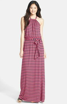 Caslon® Stretch Knit Halter Maxi Dress available at #Nordstrom