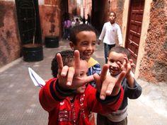 The kids of the Medina of Marrakesh.