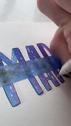 Diy Crafts For Girls, Diy Crafts To Do, Diy Crafts Hacks, Paper Crafts, Diys, Hand Lettering Art, Hand Lettering Tutorial, Bullet Journal Lettering Ideas, Bullet Journal Ideas Pages