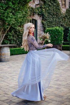 Beautifully chic floor length tulle... Tulle skirt by Bliss Tulle