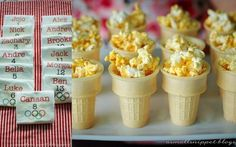 Summer Olympics party popcorn torch