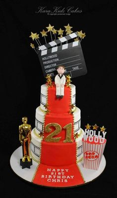 Hollywood Themed Cake by Karakidz Cakes