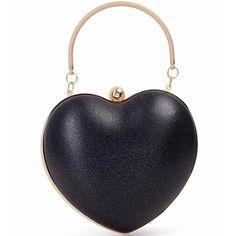 Black Sparkle Heart Bag