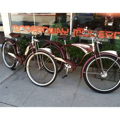 Vintage schwinn's 1946 and 1949 Had a Blue One @ 5yrs. 1st Bike....Big Girl..rode it to!