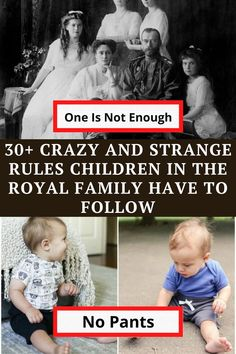 Let's have a look at 40 of the craziest rules that the Royal children need to follow