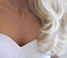 Buy Now Wedding Necklace Lariat Necklace Bridal Jewelry . Bridal Bracelet, Bridal Earrings, Wedding Jewelry, Gift Wedding, Wedding Necklaces, Diamond Earrings, Wedding Rings, Collier Lariat, Lariat Necklace