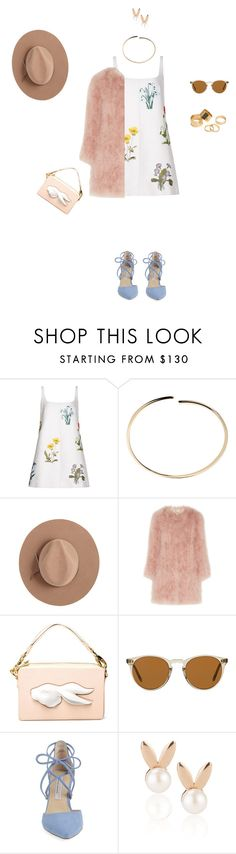 """""""Easter Brunch at Tiffany's. 💐🥚"""" by thebr0wnreginageorge on Polyvore featuring STELLA McCARTNEY, Maison Margiela, Calypso Private Label, Topshop Unique, Andres Gallardo, Oliver Peoples, Kristin Cavallari, Aamaya by Priyanka and Pieces"""
