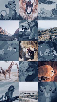 Rei Leão aesthetic Retro Wallpaper Iphone, Cute Pastel Wallpaper, Pop Art Wallpaper, Disney Phone Wallpaper, Cute Wallpaper Backgrounds, Cute Cartoon Wallpapers, Disney Collage, Disney Art, Disney Pixar