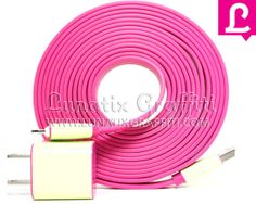 2in1 Pink Glow in the Dark iPhone Charger (For iPhone 5 & iPhone 4/4s in 3ft and 10ft cable)