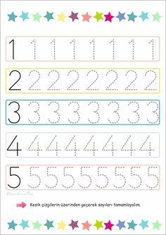 # # of - Schulanfang 2019 Preschool Writing, Numbers Preschool, Preschool Education, Preschool Learning Activities, Teaching Numbers, Printable Preschool Worksheets, Kindergarten Math Worksheets, Tracing Worksheets, Worksheets For Kids