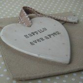 Clay Heart Hanging Decoration, Happily Ever After