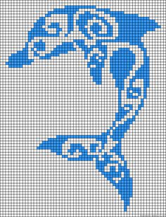 Tribal dolphin perler bead pattern