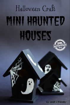 {Halloween Craft!} Mini Haunted Houses - This cheap and easy Halloween craft is so fun and cute!