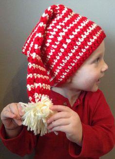Striped Elf Hat Child Newborn Baby Toddler by AlbsmeyerRoad