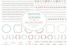 Doodle Seamless Borders, Elements by helga_helga