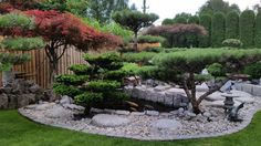 >>Japanese Garden Inspiration for Your Backyards<< Outdoor Landscaping, Front Yard Landscaping, Japanese Stone Lanterns, Modern Japanese Garden, Garden Pictures, Small Gardens, Garden Styles, Garden Inspiration, Landscape Design