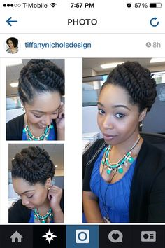 Flat twist updo by caitlin - Modestil. Flat Twist Hairstyles, Flat Twist Updo, Braided Hairstyles, Protective Hairstyles, Protective Styles, Twist Ponytail, Dreadlock Hairstyles, Messy Ponytail, African Hairstyles