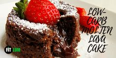 Its warm, its sweet, and its fluffy. It is a cool molten keto lava cake. It is super easy to cook and this entire little cake has only 4 grams of net carbs. So, try out this recipe and treat yourself with a finger-lickin good dessert. Valentines Day Desserts, Fun Desserts, Dessert Ideas, Dessert Recipes, Keto Chocolate Cake, Molten Chocolate, Chocolate Recipes, Lava Cake Recipes, Molten Lava Cakes
