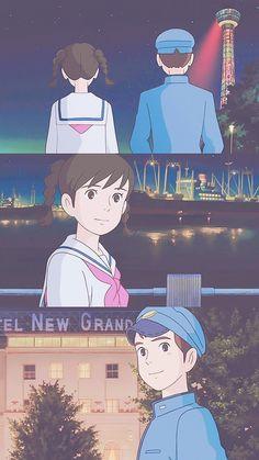 Studio Ghibli Art, Studio Ghibli Movies, Personajes Studio Ghibli, Studio Ghibli Background, Up On Poppy Hill, Princess Drawings, Anime Nerd, Old Anime, Anime Love Couple
