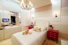 Decor Salteado - Blog de Decoração   Construção   Arquitetura   Paisagismo: Suíte da menina com estilo provençal e tema de princesa – maravilhosa! bedroom girl