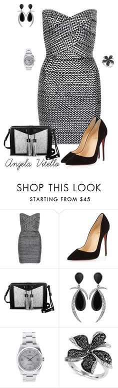 """""""Untitled #649"""" by angela-vitello on Polyvore featuring WithChic, Christian Louboutin, Carianne Moore, Jorge Adeler, Rolex and Effy Jewelry"""
