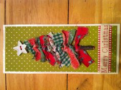 Fabric Christmas card