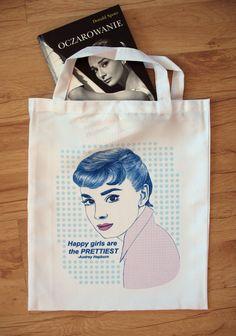 Torba materiałowa z Audrey Hepburn