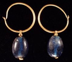 Byzantine gold earrings, 7th-8th century