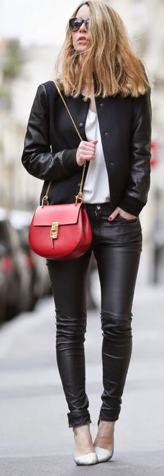 Red Bag Outfit Idea