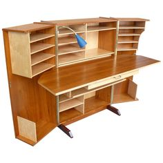 Norwegian Desk-in-a-Box - my mom had one of these when I was a kid. We replaced . Norwegian Desk-in-a-Box - my mom had one of these when I was a kid. We replaced it with an oversized roll top desk s Folding Furniture, Kids Furniture, Online Furniture, Furniture Design, Modern Furniture, Furniture Storage, Discount Furniture, Hobby Room, Modern Desk