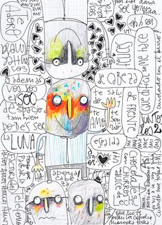 Nicolas da Rocha - 2012. de Cabeza. Tinta y lapiz sobre papelito.