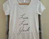 Live Love Junk-Oatmeal Triblend, fashion tshirt