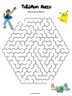 Free Printable Pokemon Maze