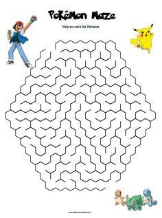 Free Printable Pokemon Maze