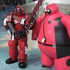 Baypool got to hang out with a Deadpool space marine!