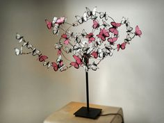"""Table lamp with butterflies Cherry Tree Bonsay """"Layla"""" on Etsy, £62.99"""