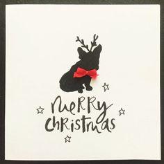 Santa bulldog christmas card santa handmade french bulldog christmas cards m4hsunfo