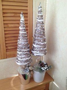 Елка,елка из сизаля,новый год,топиарий,подарок на новый год