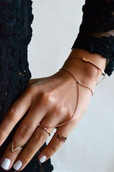Fine Ring Chain Bracelet on styleaddict.com.au
