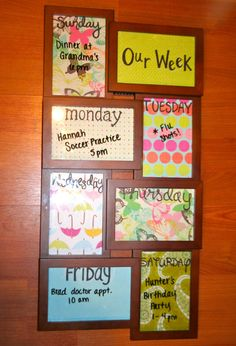 Our Week Dry Erase Wall Calendar on Etsy, $30.00