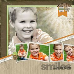 Smiles - Two Peas in a Bucket -cute layout inspiration