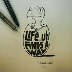 """""""A vida... arranja uma forma"""", Parque Jurássico. Ian Simmons"""