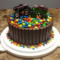 monster truck cake | Bday boy